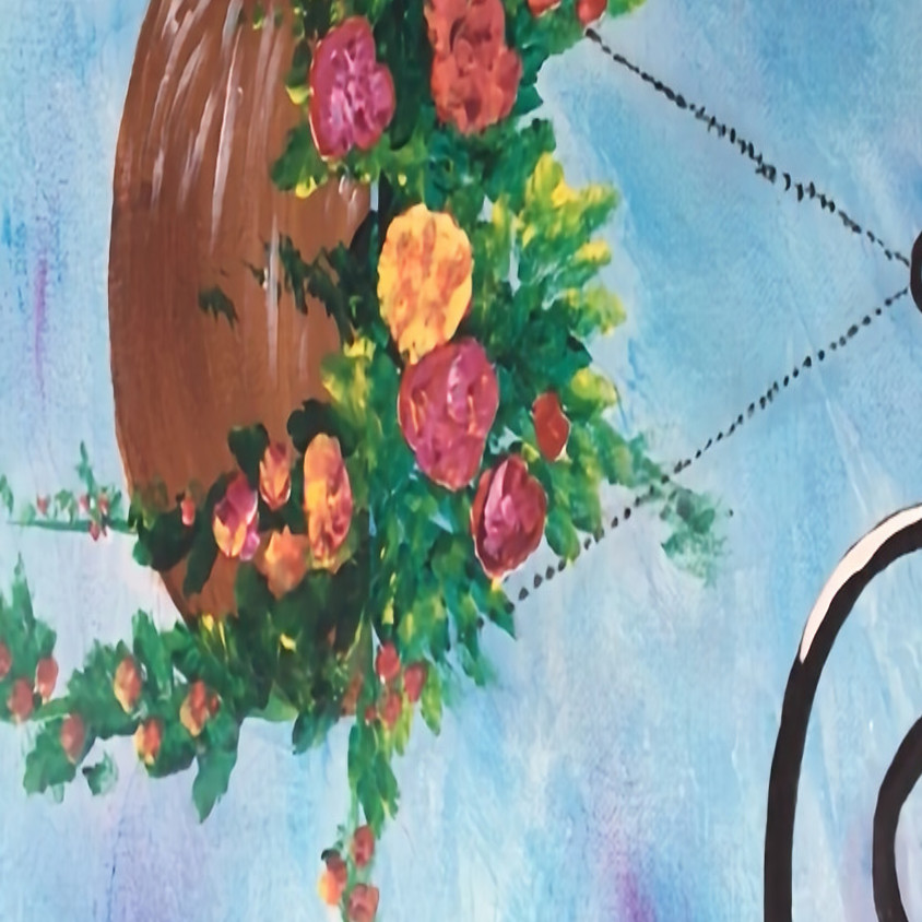 Live Zoom Class Hanging Basket - You choose your flower colors!