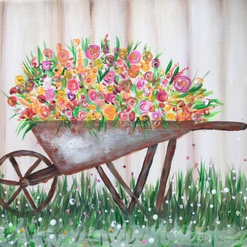 Brick Alley Bistro - Wheelbarrow Flowers