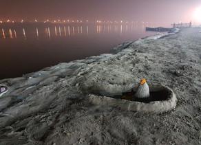 #426 Ganges, Yamuna and Saraswati Rivers, Allahabad, India