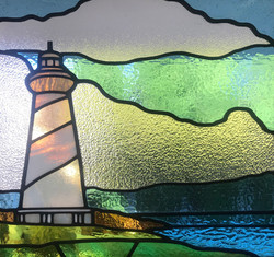 light house Stained glass Hampton & Bays
