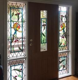 Australiana door surround Stained Glass