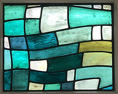 Bellman Ocean Stained Glass panel 2 Leig