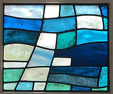 Bellman Ocean Stained Glass panel 3 Leig
