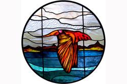 pheonix stained glass leigh schellekens