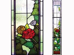 ivy rose leadlight sidelight Gisborne copy