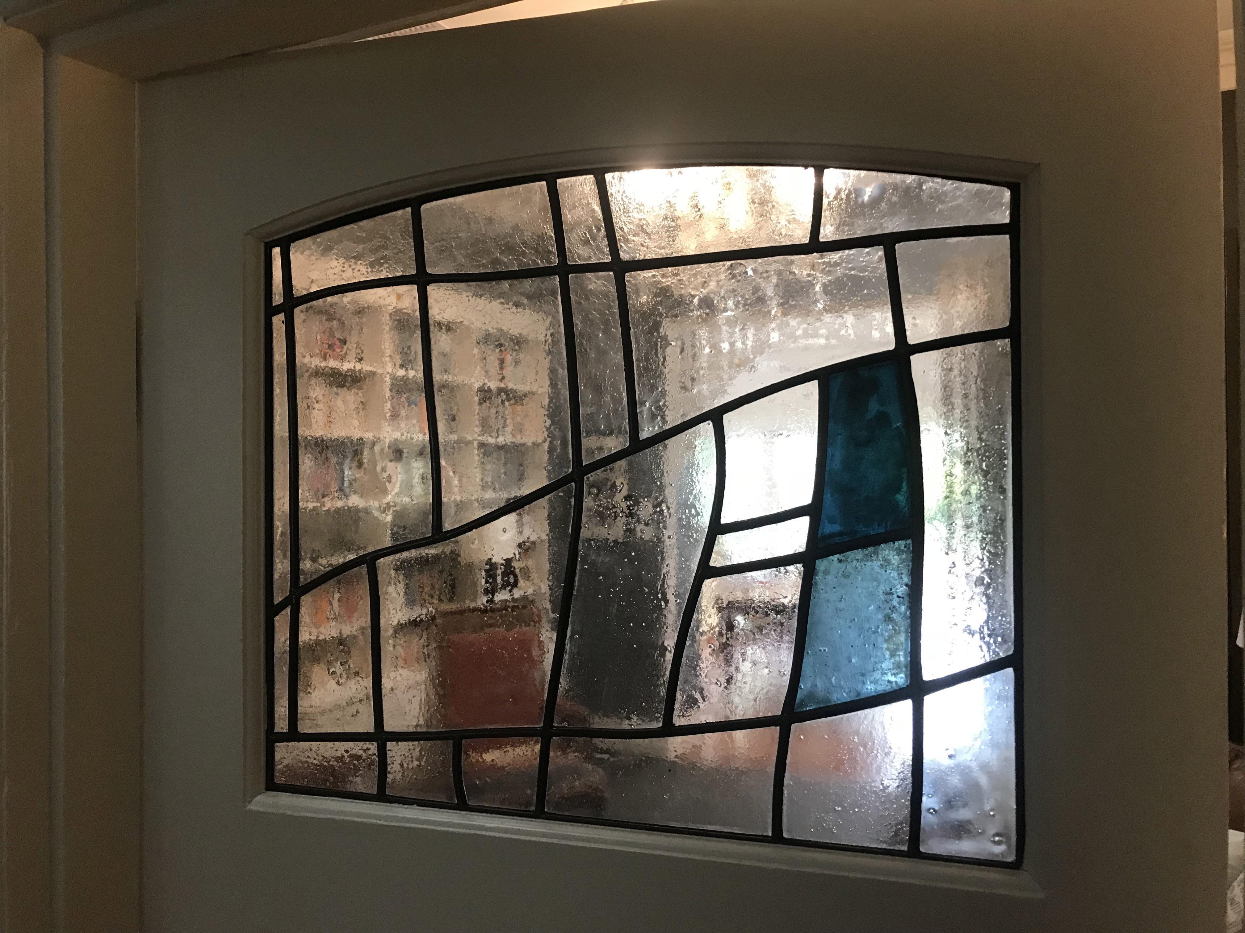 Belman door stained glass window 1 Leigh
