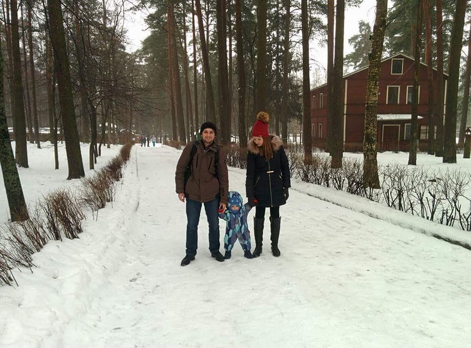 טיול משפחתי אל מחוץ לעיר, רק מינוס 12 מעלות, פברואר 2016