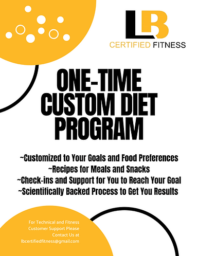 One Time Custom Diet Program