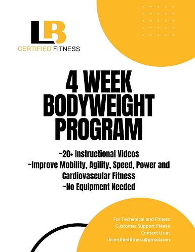 4 Week Bodyweight Program