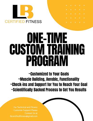 One Time Custom Training Program