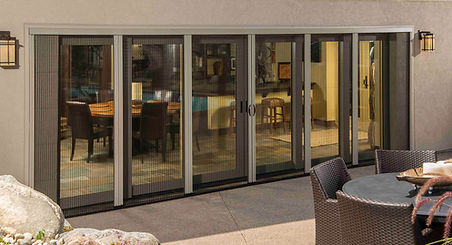 pleated retractable screens for bi-folding doors