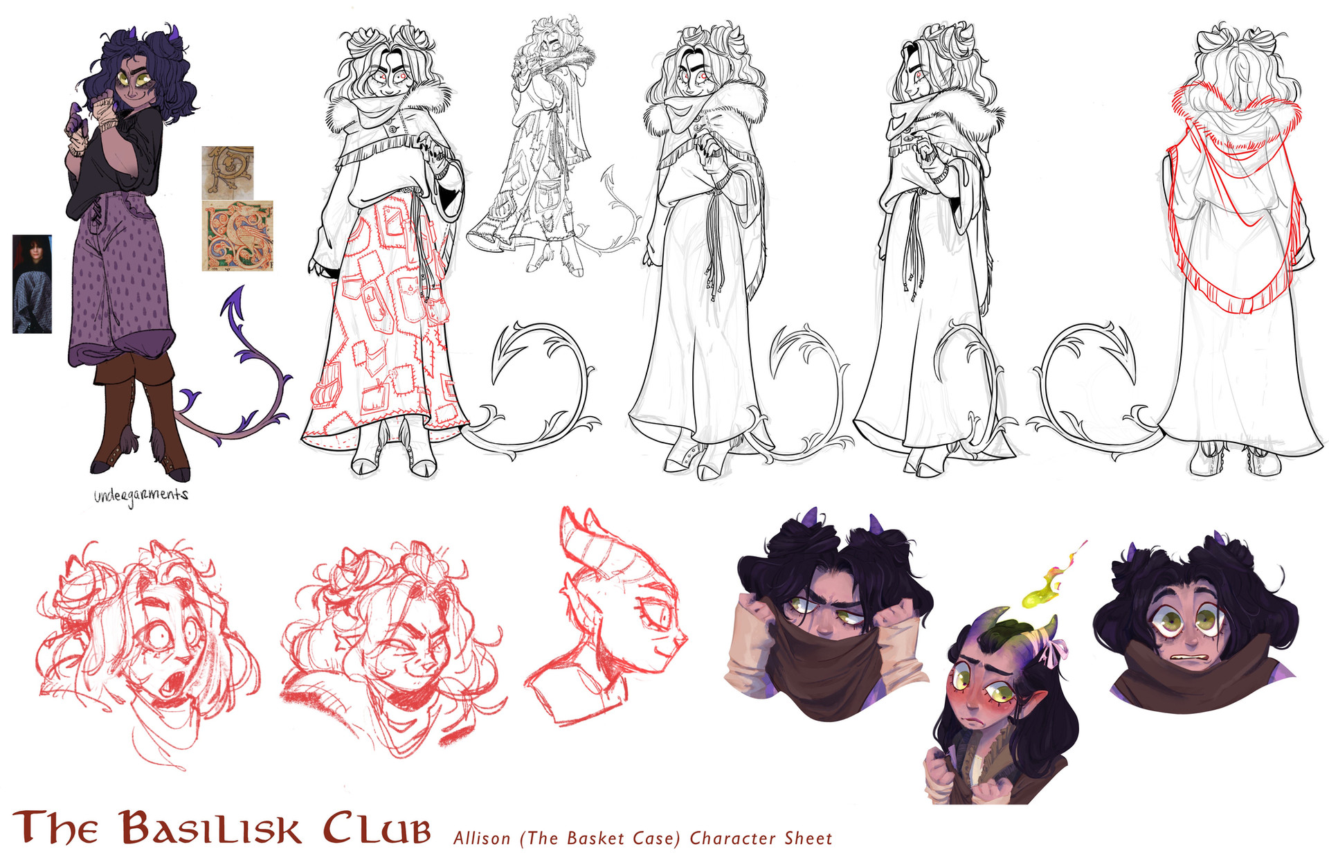The Basilisk Club: Allison Character Sheet