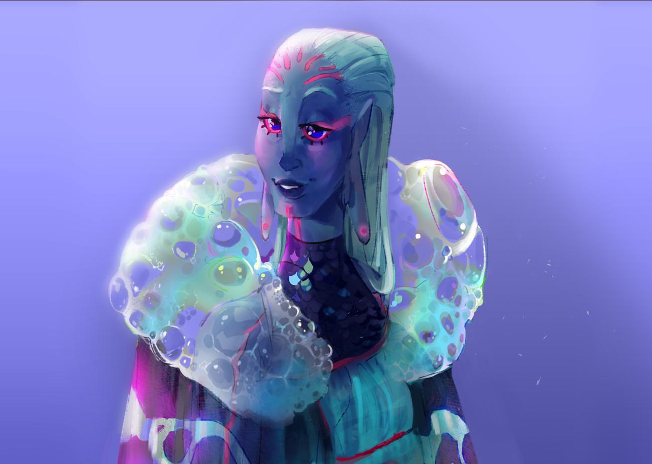 Brienne the Bubble Ruff Warlock
