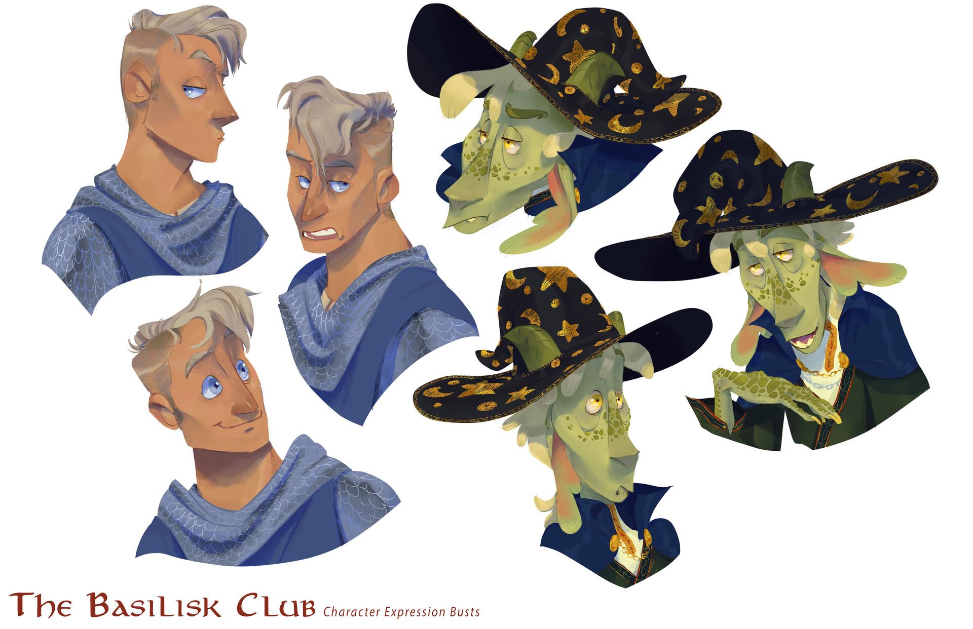 The Basilisk Club: Character Busts