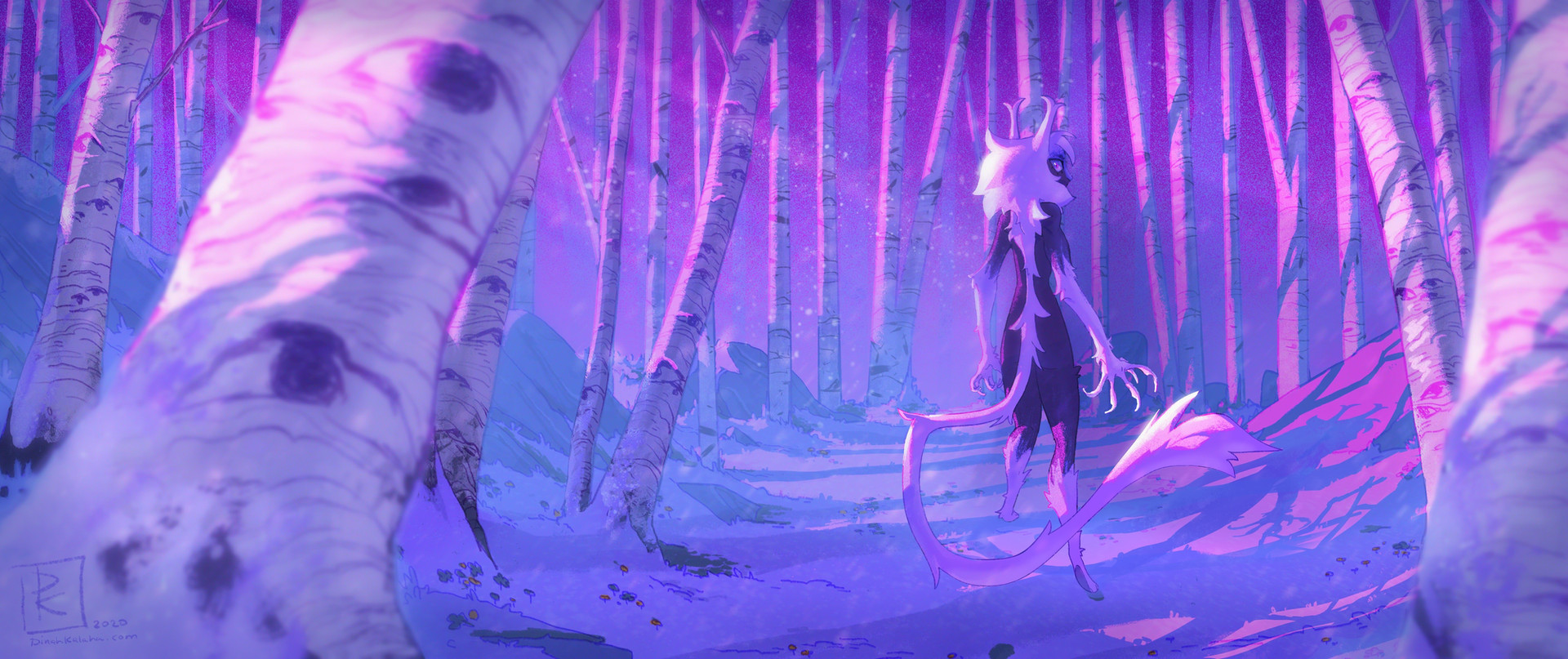 Howl Winter Coat Painting