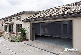 motorized retractable screens for garage doors