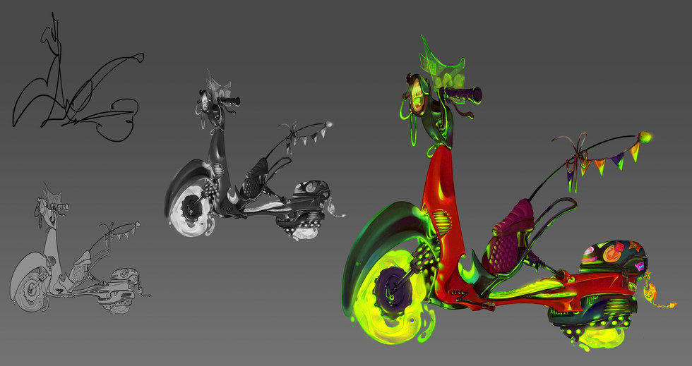 Trik's Hover-Moped