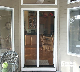 Genius Milano 200 Retractable door screen for french doors