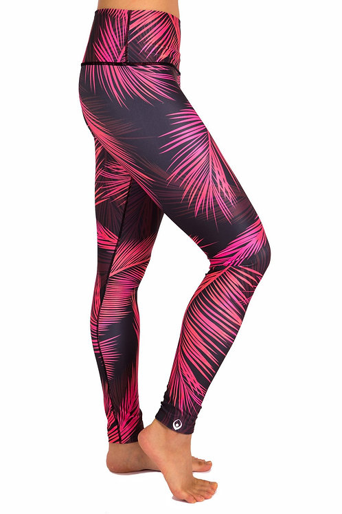 Palm Sunset Leggings Pink Size M (8)