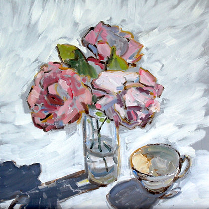 Summer Roses with Teacup