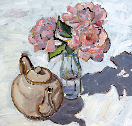 Nana's Roses with Teapot