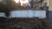 柵の修繕、木の除去