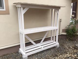 薪棚の製作・ホワイトカラーVer