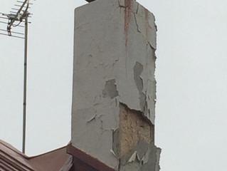 モルタル煙突の補修