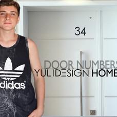 מספרים שחור  black  DOOR numbers דלת לבנ