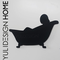 שלט אמבטיה לבית Bathroom sign design for
