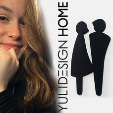 שלט שירותים איש אישה design toilet wc  M