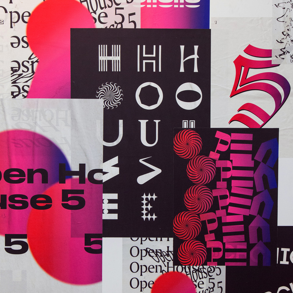 Open House Posters Collaged