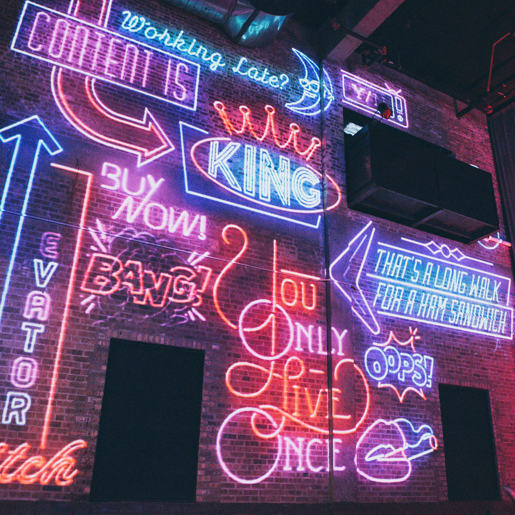 Neon Projection Wall