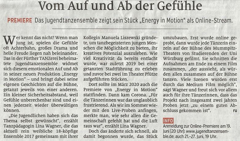 Nürnberger Nachrichten 12.06.2021