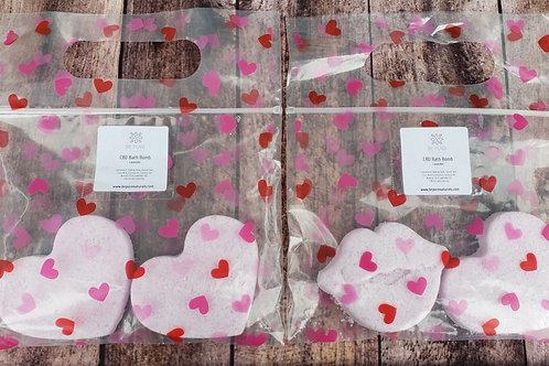 CBD Valentine Bath Bombs