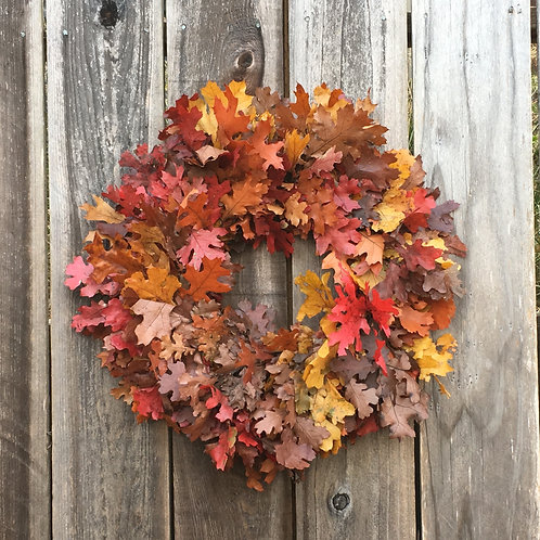 California Oak Wreath, Autumn Mix