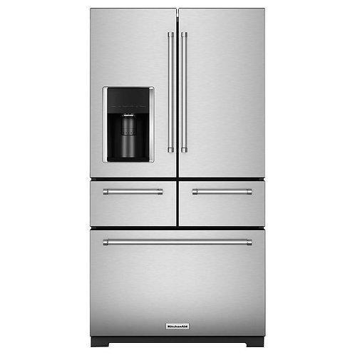 Refrigerador Kitchen Aid 26 pies cúbicos gris acero KRMF606ESS