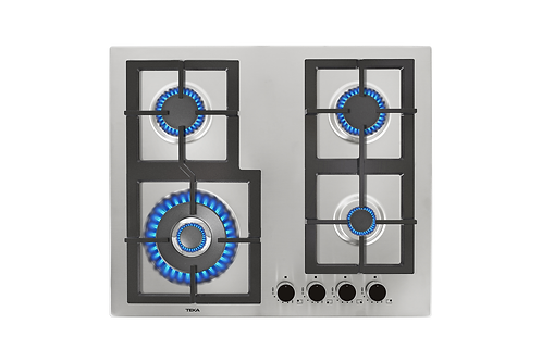 Parrilla de cocción a gas con 4 quemadores de 60 cm EFX 60.1 4G AI AL DR CI