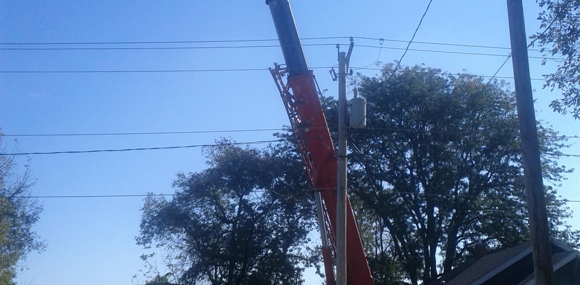 Crane set up