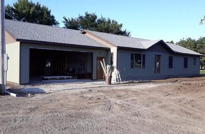08.22.2019 - Exterior - Garage finished.