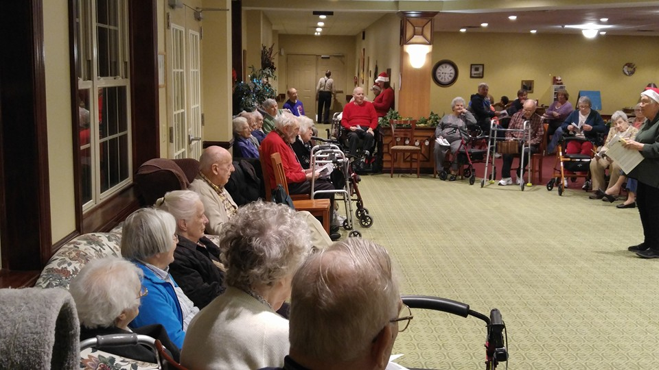 Caroling at St. Columbans