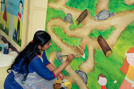 Teacher Painting