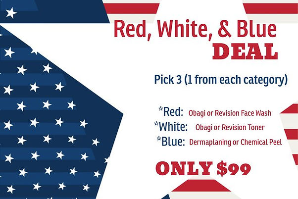 Red, White, & Blue Facial July.jfif
