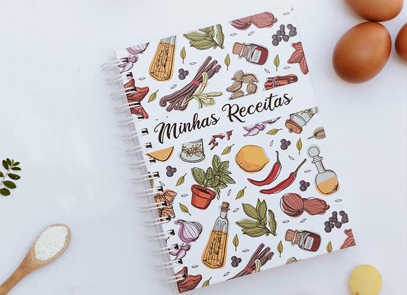 Caderno de receitas salgadas
