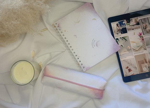 Kit caderno + estojo alinhamento