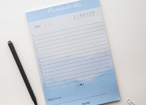 Planejador diário barquinho