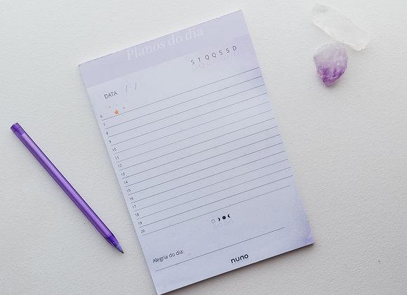 Planejador diário alinhamento