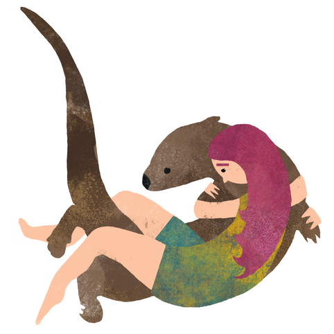 Girl and Otter