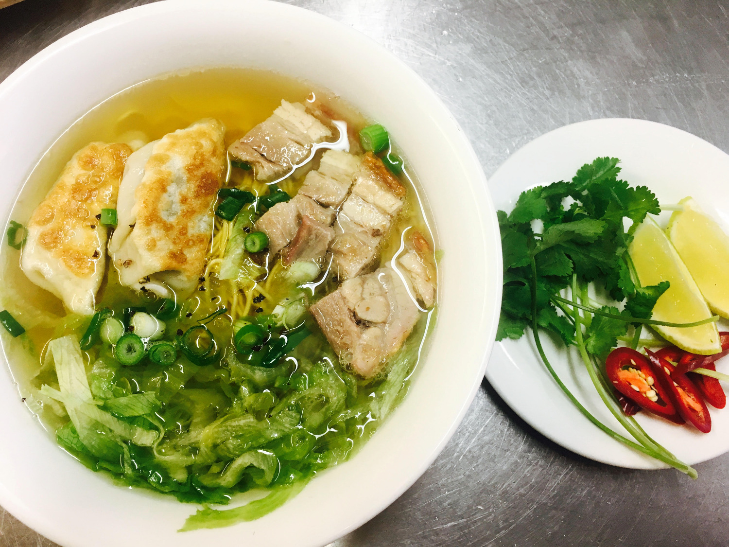 Noodle Soup with Pork & Dumplings