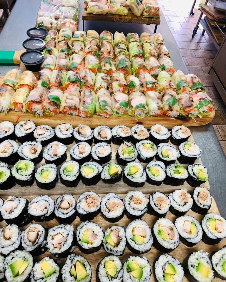 Sushi and Rice Paper Roll Platters